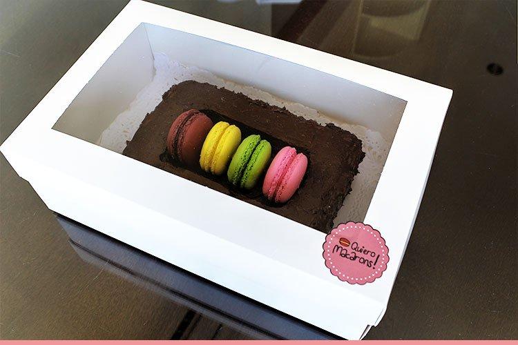 Caja torta caja de macarons