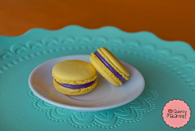 Macarons sabor violeta