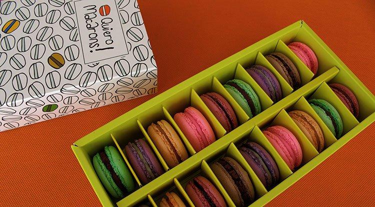 Caja Macarons diseño