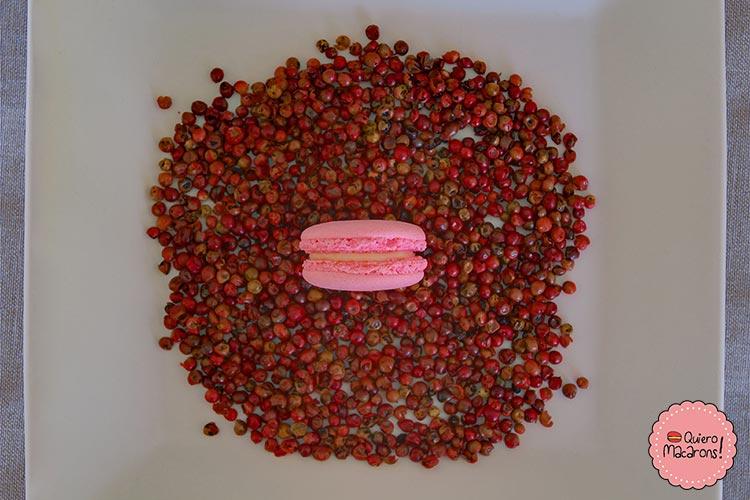 Macarons de Pimienta Rosa